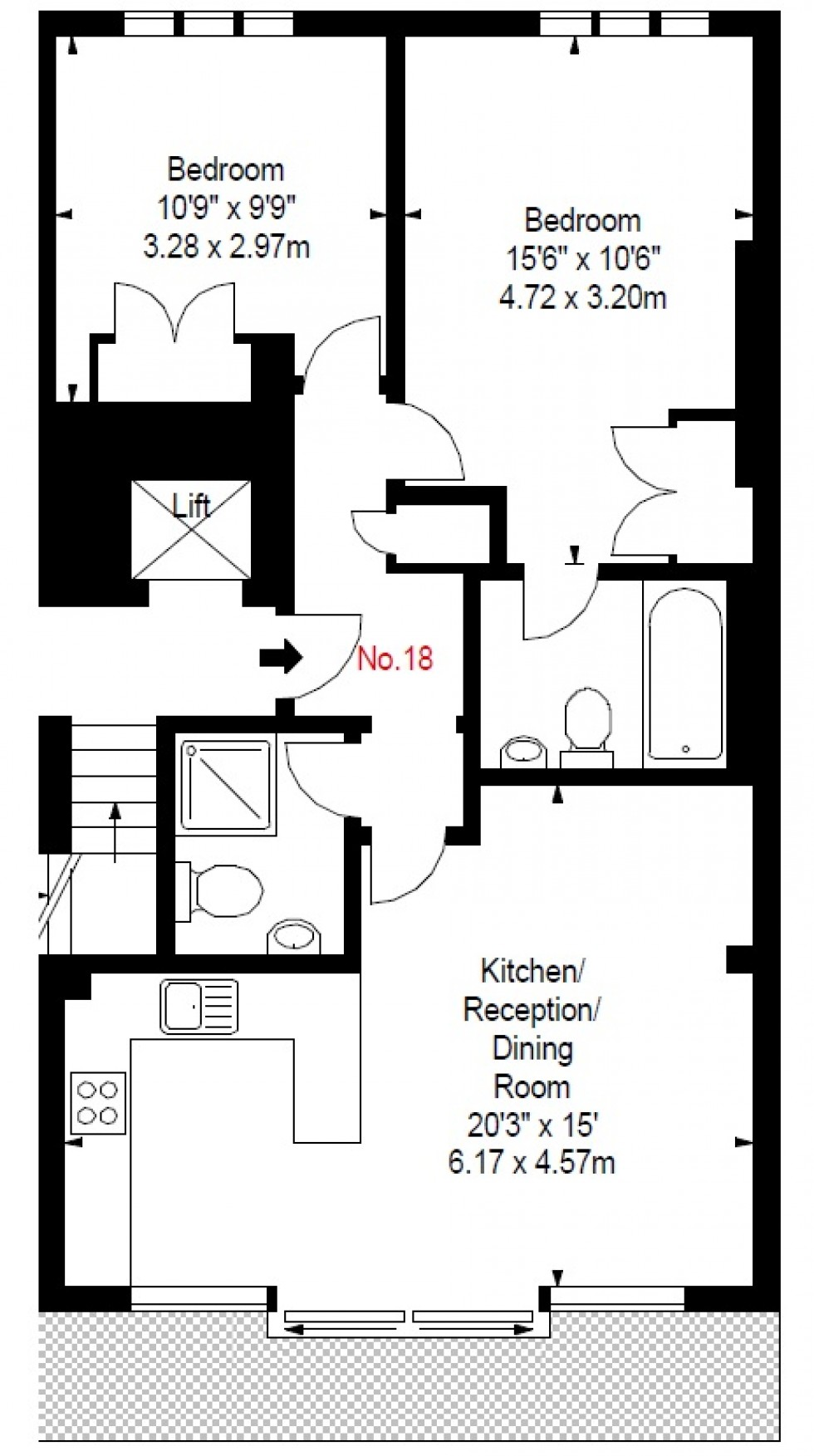 Floorplan for Nevern Place, 17-19 Nevern Place, London